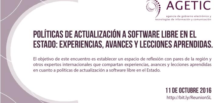 Encuentro en linea de Políticas de actualización a software libre en el Estado